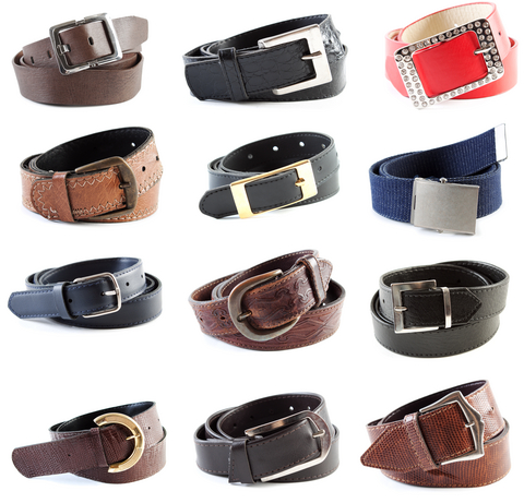 collection of belts and designs